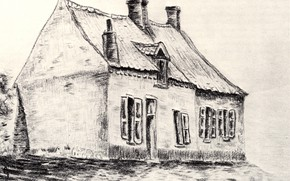 Картинка дом, Винсент ван Гог, Works of the young, La Maison Magros