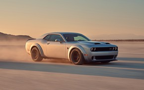 Картинка скорость, Dodge, Challenger, Hellcat, SRT, Widebody, 2019, Redeye