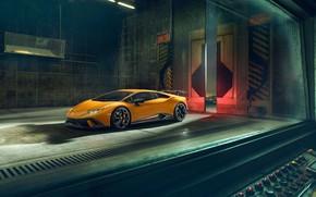 Обои Lamborghini, 2018, Performante, Novitec, Huracan