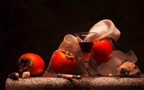 Картинка ягоды, бокал, хурма
