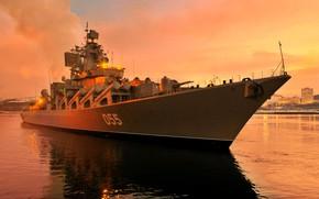 Картинка крейсер, ракетный, вмф, проект 1164, шифр Атлант, Маршал Устинов