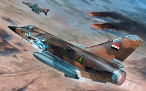 Картинка Dassault Mirage F1, многоцелевой истребитель для ВВС Ирака, лёгкий многоцелевой истребитель, F1.EQ