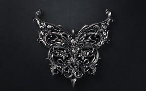 Картинка бабочка, арт, кулон, Sasha Vinogradova, Butterfly jewellery