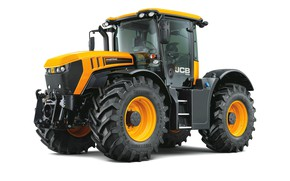Картинка трактор, белый фон, JCB, Fastrac 4220