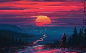 Картинка закат, рисунок, арт, art, Aenami, by Aenami, Alena Aenami, by Alena Aenami, Aenami Art, Way …