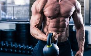 Картинка muscle, мышцы, пресс, гиря, тренировка, атлет, воркаут, workout, бодибилдер, training, abs, crossfit, bodybuilder, CrossFit, Кроссфит