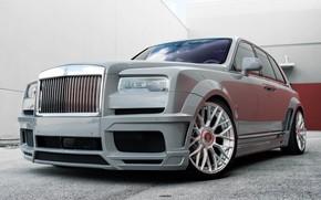 Картинка Rolls Royce, Gray, SUV, 3/4, Nardo, Cullinan