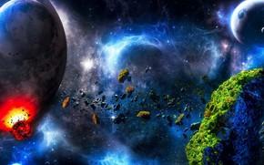 Картинка cosmos, planets, Sci fi