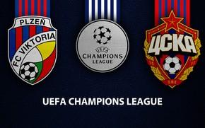 Картинка wallpaper, sport, logo, football, UEFA Champions League, Viktoria Plzen, CSKA Moscow, Viktoria Plzen vs CSKA …