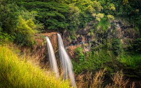 Картинка USA, Hawaii, Waterfall