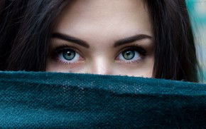 Картинка green, wallpaper, girl, green eyes, brown hair, eyes, macro, model, beauty, color, hair, brunette, black …