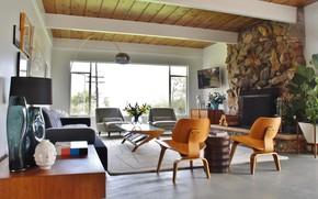 Картинка стиль, ретро, комната, интерьер, гостиная, captivating home