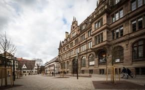 Картинка Город, Германия, Площадь, Брусчатка, Здание
