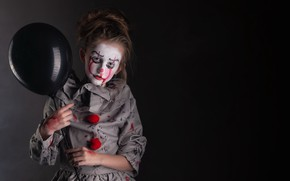 Картинка праздник, девочка, хеллоуин