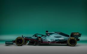 Картинка Aston Martin, болид, Formula 1, 2021, AMR21