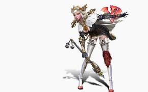 Картинка рендеринг, игра, фэнтези, арт, иллюстрация, пет, дизайн костюма, sim insu, girl&dragon