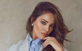 Картинка взгляд, девушка, поза, волосы, макияж, актриса, губы, шатенка, красотка, Eiza Gonzalez