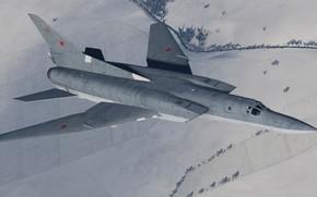Картинка КБ Туполева, Красавец, Ту-22М3, Стратегический бомбардировщик