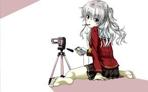 Картинка девушка, камера, Шарлотта