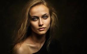 Обои глаза, взгляд, девушка, волосы, зелёные, Таня, Zachar Rise