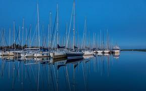 Картинка вода, яхты, порт, гавань