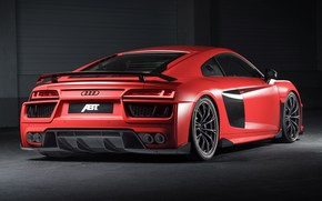 Картинка Audi R8, вид сзади, ABT, V10, Plus, 2017