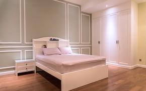 Картинка комната, кровать, шкаф, спальня, дизайн