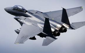 Картинка ВВС США, истребитель-бомбардировщик, F-15E, Strike Eagle, McDonnell Douglas, американский двухместный
