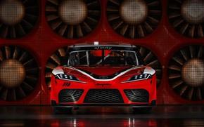 Картинка гоночное авто, Toyota, вид спереди, Supra, 2019, Xfinity