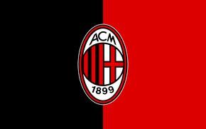 Картинка wallpaper, sport, logo, football, AC Milan