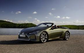 Картинка Lexus, кабриолет, боком, 2021, LC 500 Convertible