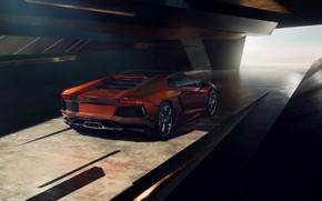 Картинка Авто, Lamborghini, Оранжевый, Суперкар, Aventador, Lamborghini Aventador, Supercar, Спорткар, Sports Car, Transport & Vehicles, Recom …