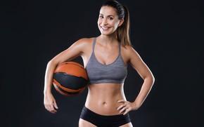Картинка спорт, мяч, Девушка