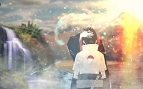Картинка наруто, naruto, sasuke, brothers, uchiha, itachi, sasuke uchiha, naruto shippuden, itachi uchiha, наруто шипуден