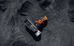 Картинка dust, heavy machinery, coal, mining