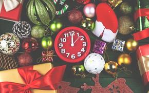 Картинка украшения, шары, colorful, Новый Год, Рождество, подарки, Christmas, balls, wood, New Year, decoration, xmas, gift …
