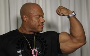 Картинка поза, muscle, мышцы, бицепс, бодибилдер, bodybuilder, Олимпия, Phil Heath, Фил Хит