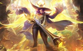 Картинка Девушка, Оружие, Hat, Purple Hair, Woman Warrior, Mobile Legends: Bang Bang