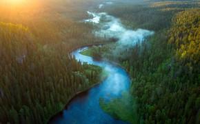 Картинка summer, sunrise, River Kitkajoki