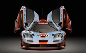 Картинка McLaren, GTR, Двери, Фары, 1993, 24 Hours of Le Mans, 24 часа Ле-Мана, McLaren F1, …