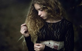 Картинка портрет, девочка, Paola