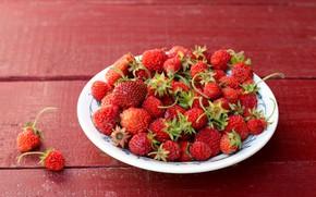 Картинка фон, земляника, ягода, тарелка
