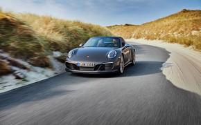 Картинка дорога, Porsche, 4x4, Biturbo, тарга, спецверсия, 911 Targa 4 GTS, Exclusive Manufaktur Edition