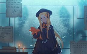 Картинка девушка, свечи, плюшевый мишка, Fate, Abigail Williams, Grand Order: First Order
