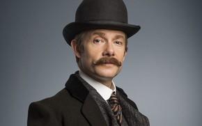 Картинка усы, шляпа, пальто, Мартин Фримен, Sherlock, Sherlock BBC, Sherlock Holmes, Джон Ватсон, Безобразная невеста, Sherlock …