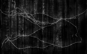 Картинка доски, чёрная, Колючая проволока