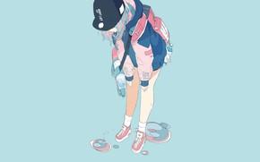 Картинка вода, девушка, фон