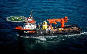 Картинка Океан, Море, Техника, Ship, Vessel, AHTS, Offshore, AHTS Vessel, Offshore Supply Ship, Supply Ship, Offshore …