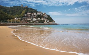 Картинка песок, море, волны, пляж, лето, небо, summer, beach, sea, blue, seascape, sand, wave
