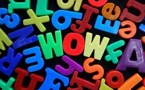 Картинка буквы, цвет, wow
